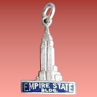 Sterling Silver Bracelet Charm Empire State Building NYC 1960s