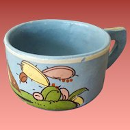 Very Vintage Cup Old Mexico Hand Painted Scene