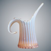 Fostoria Opalescent Pink Vase Pitcher Mid Century