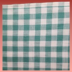 Rare Buffalo Checked Cotton Sewing Fabric Red Line Selvedge