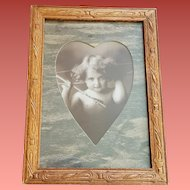 Cupid Awake Print Wood Frame M.B. Parkinson