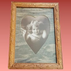 Cupid Awake Print Wood Frame M.B. Parkinson