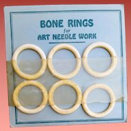 1930s Natural Bone Rings Old Sewing Notion