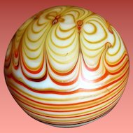 Smyers Studio Paperweight Art Nouveau Pulled Feathers 1977