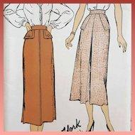 1940s Skirt Sewing Pattern Mint In FF waist 24