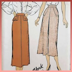 1940s Skirt Sewing Pattern Mint In FF waist 24