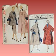 Two Vintage Sewing Pattern Coats Jackets Size Small