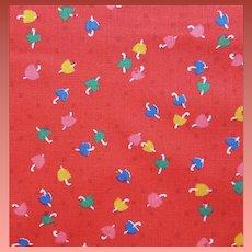 1970s Cotton Sewing Fabric Miniature Umbrellas