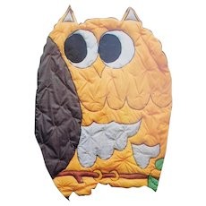 Down On The Farm Critter Quilted Coverlet Sewing Pattern OWL #105