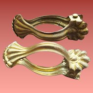 16 Antique Brass Curtain Clips Ottavia Germany