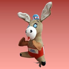 Stuffed Demo Donkey Democratic Political Advertising