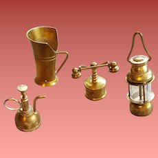 Brass Doll House Miniature Replicas Lantern French Telephone More