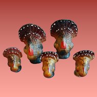 5 Gurley Thanksgiving Turkey Candles Two Sizes