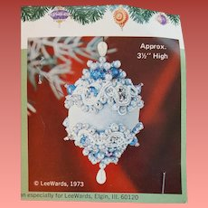 Beaded Christmas Tree Ornament Blue Sky Lee Wards 1973