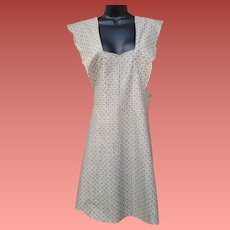 1920s - 1930s Full Body Apron Unfinished Cotton