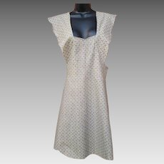 1920s - 1930s Full Body Cotton Apron Unfinished