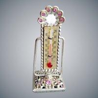 Miniature Rhinestone Thermometer 1960s Vanity Item