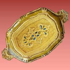 Gilt Florentine Tray Italy Italian Painted Wood