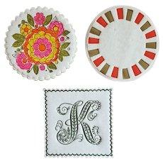 NOS Hallmark Paper Coasters 1960s Mid Century