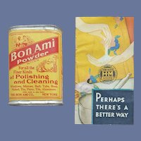 1930s Sample Tin Bon Ami Advertising Unopened