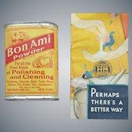 1930s Sample Tin Bon Ami Advertising Insert Mint