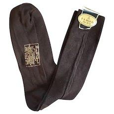 1960s Brown Ban-Lon Socks Men's Size Medium Unworn
