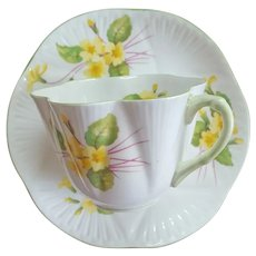 Shelley Primrose Tea Cup and Saucer 1945 - 1966