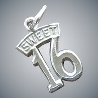 Sweet 16 Sterling Charm for Bracelet