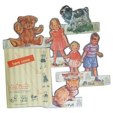 Dick and Jane Cutouts 1950s Scott Foresman