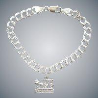Sterling Silver Savannah Georgia Bracelet with Charm