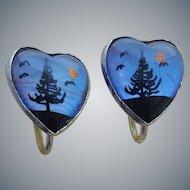 Morpho Butterfly Wing Earrings in Sterling