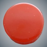 Bakelite Button Round Red Chunky Monkey