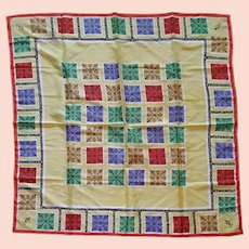 Large Silk Scarf Occupied Japan Mint Condition