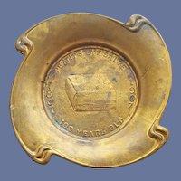 Advertising Brass Commemorative Change Tray Eye Salve 1807-1907