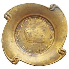 Pettit's Eye Salve 1807-1907 Advertising Brass Change Tray