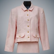 Vintage Pink Suit 100% Linen Large - Extra Large