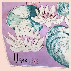 Vera Neumann Silk Scarf Teal Purple Lady Bug Japan