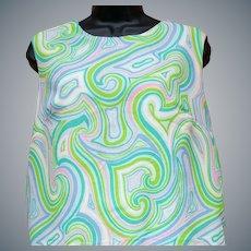 1960s Sleeveless Summer Dress Size Large