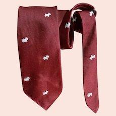 1960s Narrow Necktie Scottish Terrier Dogs England