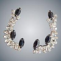 Vintage Clip on Rhinestone Earrings Super Sparkle