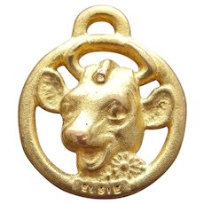 Elsie The Cow Premium Charm Borden's Dairy Advertising