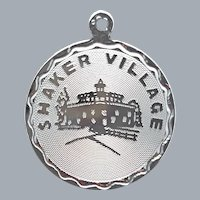 Sterling Charm for Bracelet Shaker Village 2.3 Grams