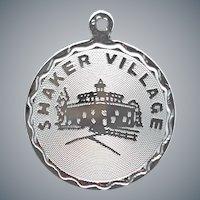 Sterling Charm for Bracelet Shaker Village 2.3 Grams