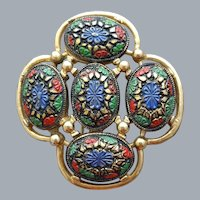 Beautiful Bohemian Brooch Sarah Coventry Vintage
