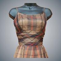 Vintage 1960s Organza Dress Size Small Minty