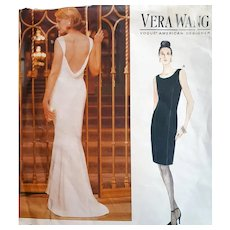 Vera Wang Evening Gown Cocktail Dress Pattern by Vogue