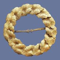 Antique Brass Belt or Sash Slide Victorian Sewing Notion