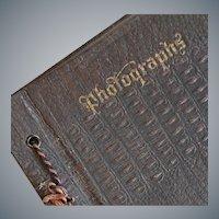 Antique Embossed Photograph Album and RPPC
