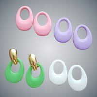 Interchangeable Pierced Earrings 4 Pair