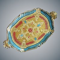 Vintage Florentine Gilt Tray Italy Wood Gesso